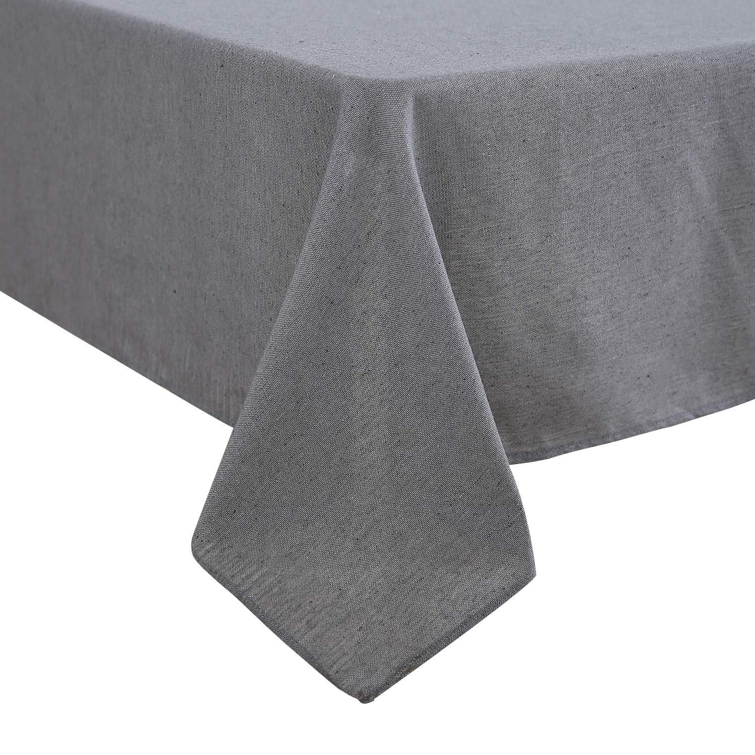Deconovo Recycled Cotton Fabric Tablecloth Square Table Cloth for Dining 130x130cm Brown