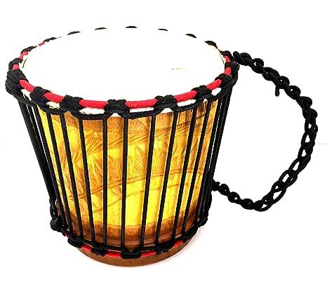 Djembe tambor africano Percussion kyinsin portátil tambor de Bongo Congo madera tallada a mano, Calidad