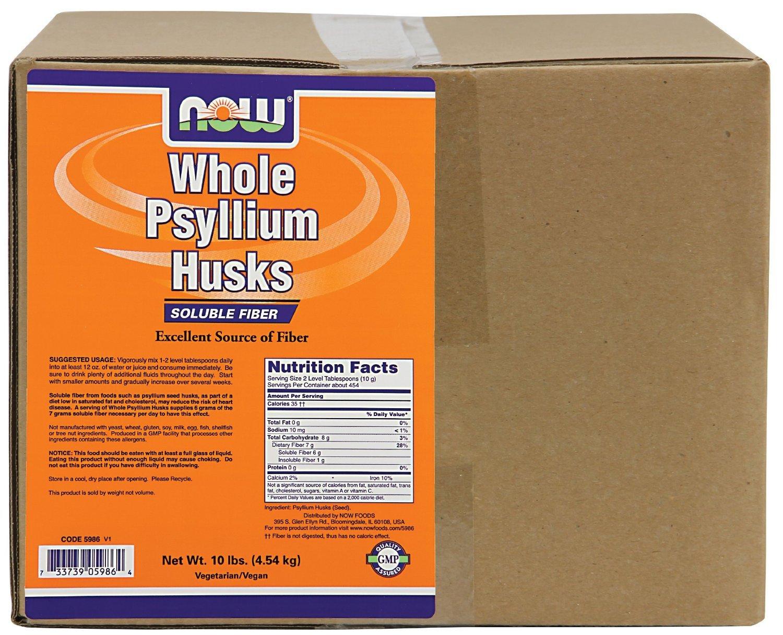 NOW Foods - Whole Psyllium Husk Mega Pack - 10 lbs.