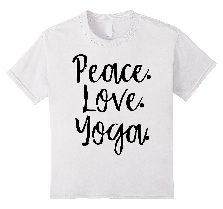 Peace Love T Shirt Inspirational Statement-Veotee