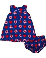 Toby Tiger Heart Flower Baby Girl's  Dress & Pants Set