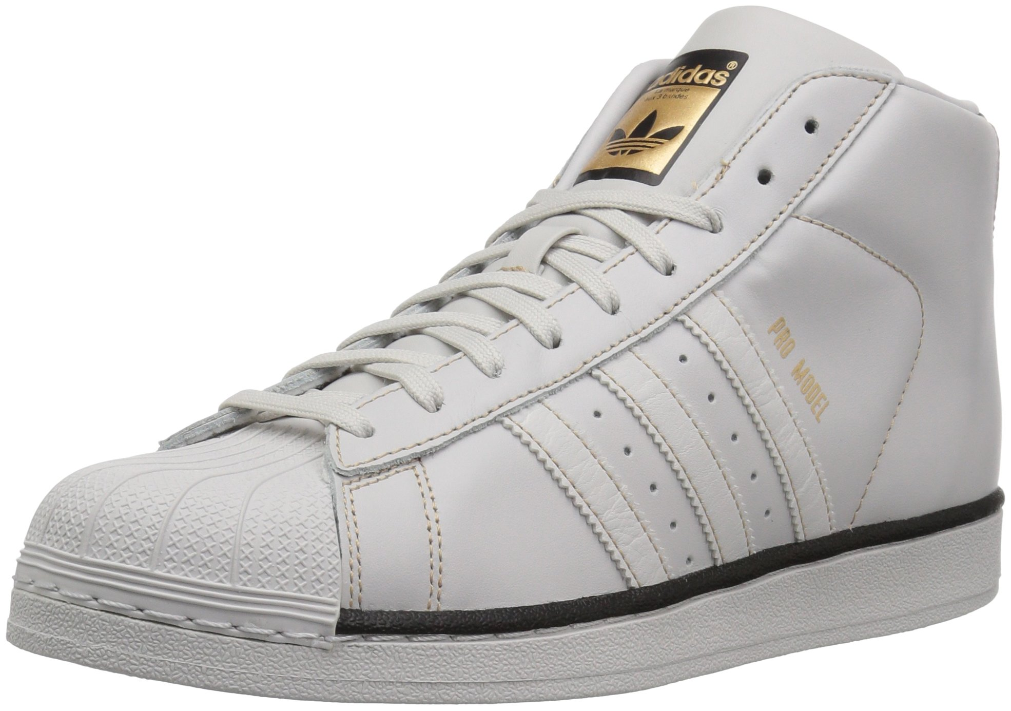 competitive price 3b674 d5a2a Galleon - Adidas Originals Men s PRO Model Sneaker, Grey One Black Tactile  Gold, 14 Medium US