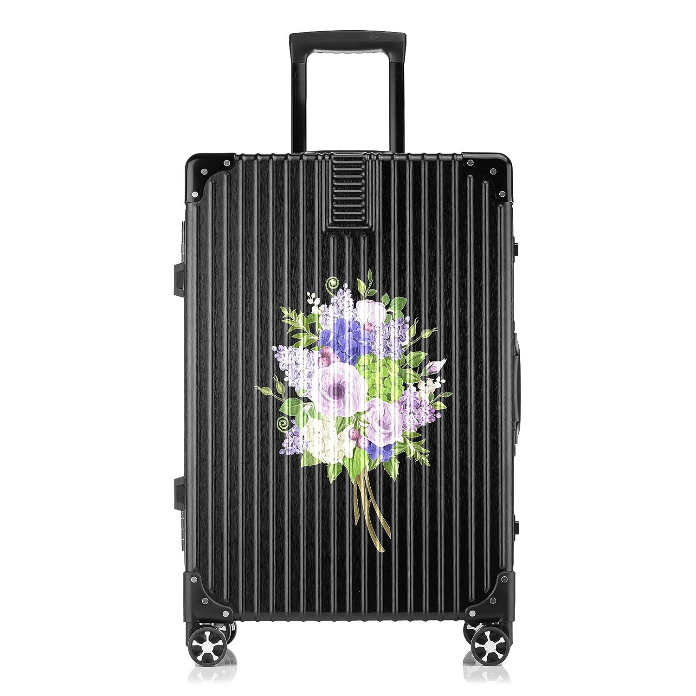 GSHCJ スーツケース きれいなライラックの花 キャリーケース 20インチ おしゃれ ブラック Tsaロック搭載 プリント ハード 超軽量 軽い 機内持込 ロックファスナー 旅行 ビジネス 出張 海外 修学旅行 丈夫 便利 レディース メンズ 学生 B07S19J9JD