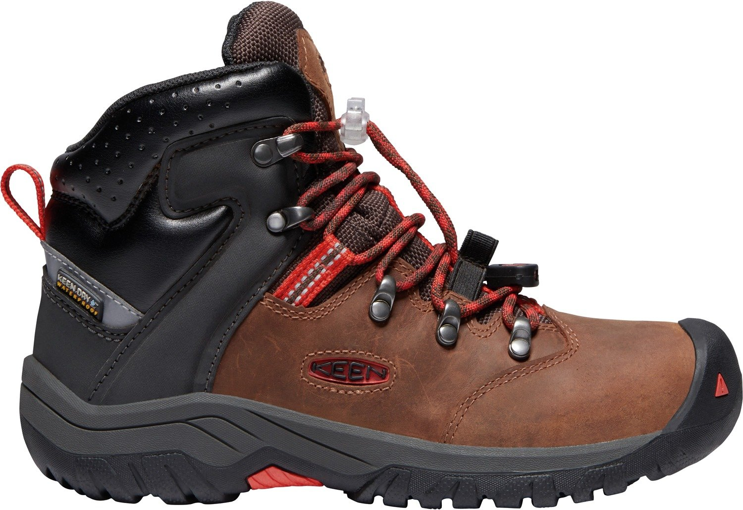 KEEN - Kids Torino II Mid Waterproof Winter Boots,Tortoise Shell/Firey Red,5 M US Big Kid