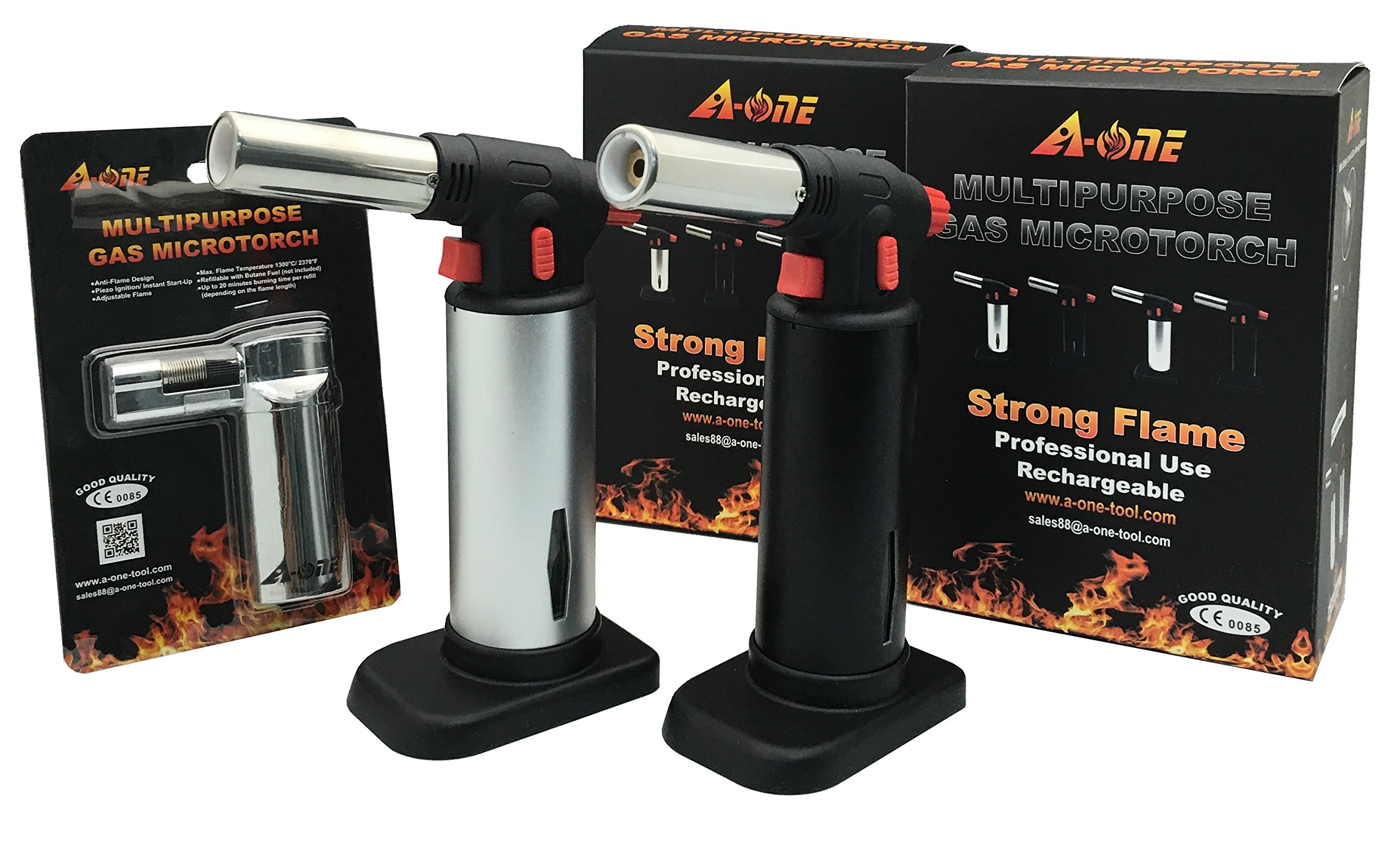 A-ONE Culinary Blow Torch-Kitchen Cooking Torch-2 with Free Lighter