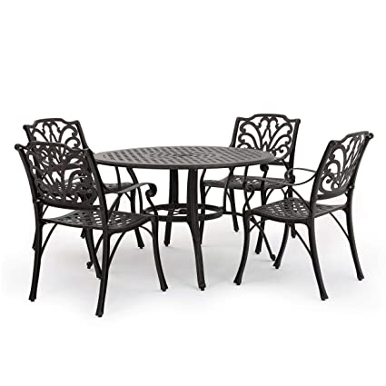 Aluminum patio furniture Sunbrella Image Unavailable Oasis Outdoor Of Charlotte Nc Amazoncom Gdf Studio Calandra Piece Cast Aluminum Outdoor