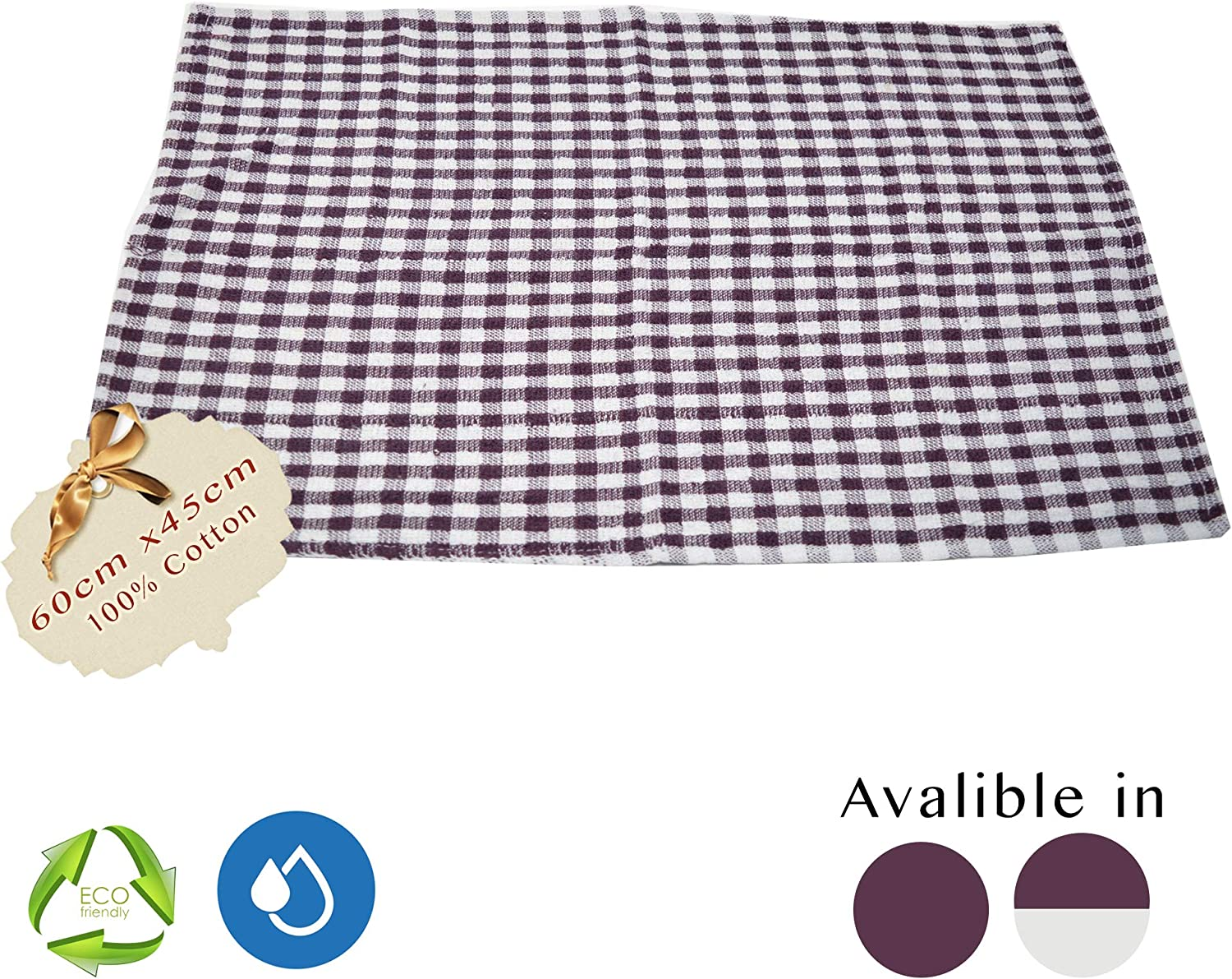 4 45cm x 60cm Blue Pack of 3, 18 x 24 Xelay 100/% Cotton Terry Tea Towel Egyptian Wonderdry Soft Monocheck Black//White Jumbo Thick Kitchen Dish Cleaning Drying Cloth Pack of 3 6 10 5 15