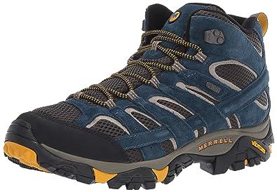 7203587c0c1c Merrell Men s Moab 2 MID Waterproof Hiking Shoe Olive Blue 07.0 ...