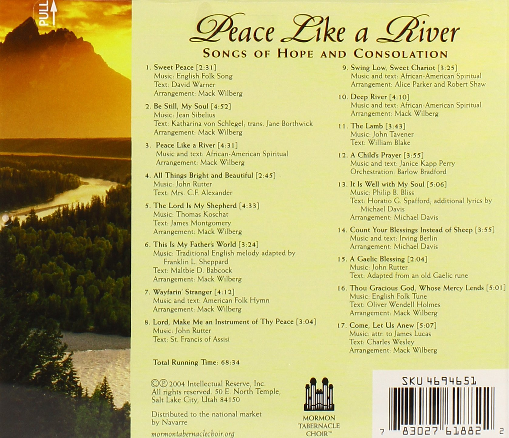 Peace Like a River by Mormon Tabernacle