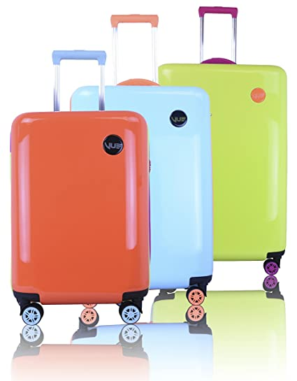 Amazon.com: Vue Colorwave Collection Hardside Spinner Luggage - 3 PC Set: Home & Kitchen