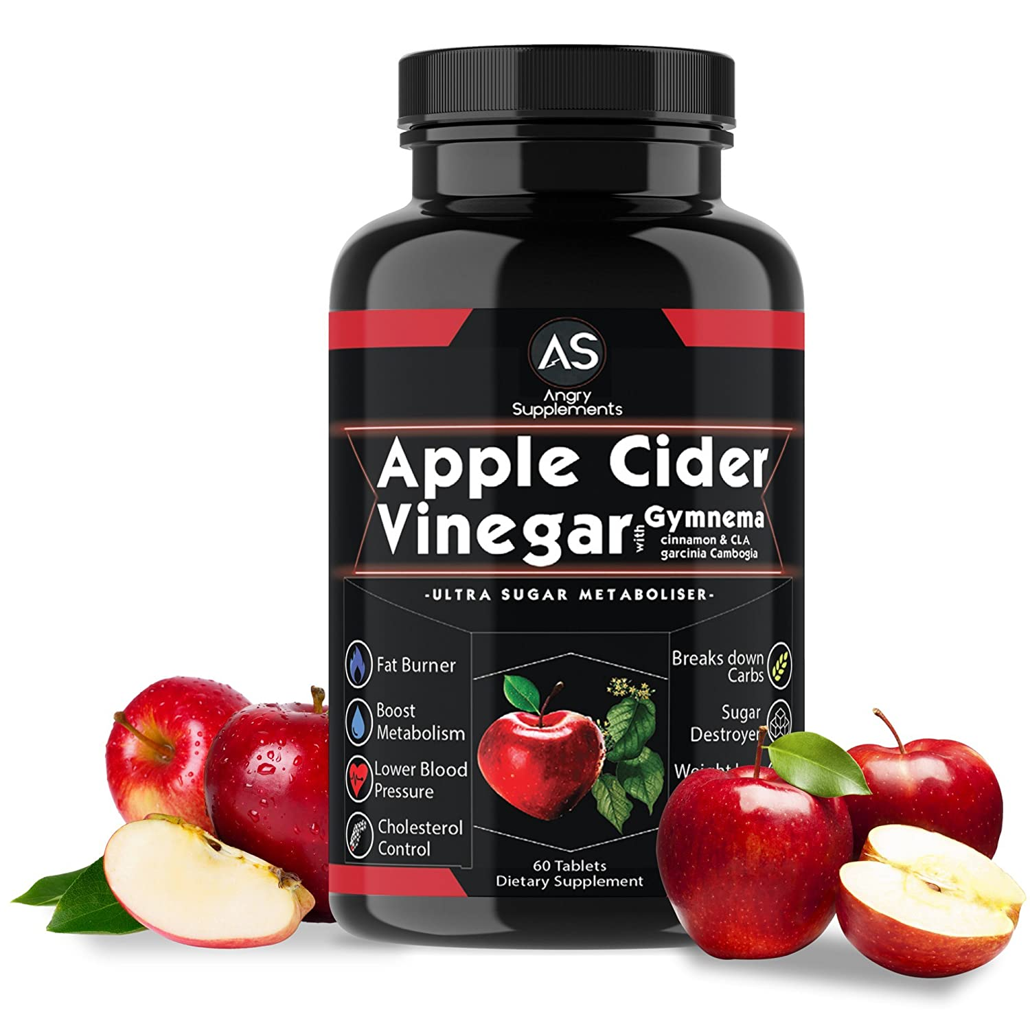 Amazon Com Angry Supplements Apple Cider Vinegar Pills For