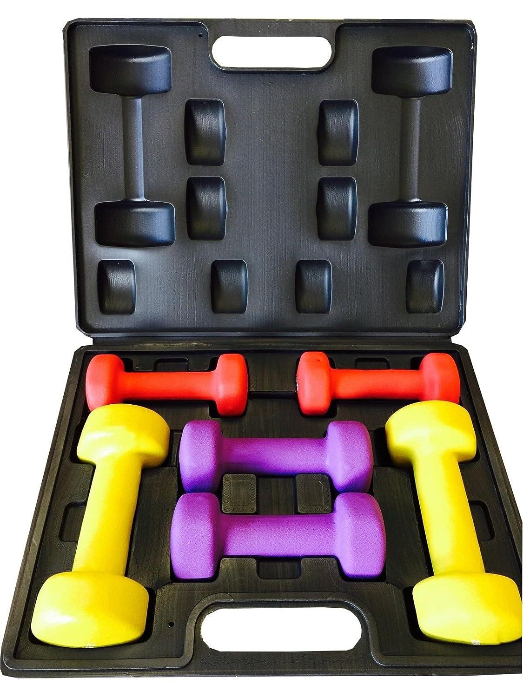 Nuevo ZUMZ 10 kg damas juego de mancuernas tonificación del cuerpo de las mujeres entrenamiento aeróbico pesas de mano con estuche fuerza 10 kg gimnasio en ...