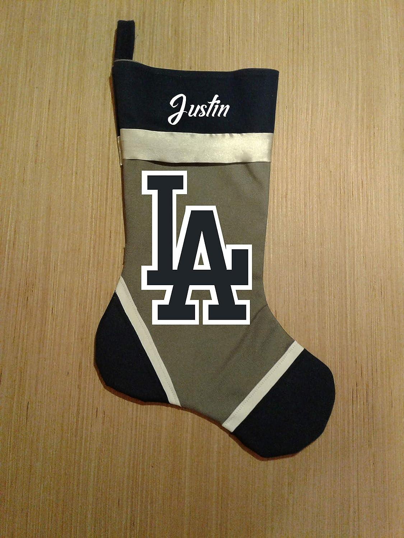 LA Dodgers Personalized Christmas Stocking