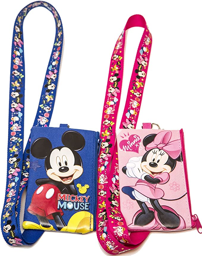Walt Disney Travel Company Lanyard with Disneyland Mickey and Minnie Pin New