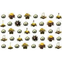 40 Stück Sonderangebot schwarzer Tee Teeblumen/Teerosen/Teeblüten/blooming tea/Erblühtee/Aufblühtee aus hochwertigem Schwarztee mit natürlichen eingearbeiteten Blüten by Feelino