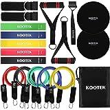 Kootek 18 Pack Resistance Bands Set Workout Bands - 5 Stackable Exercise Bands 5 Loop Resistance Bands 2 Core Sliders…