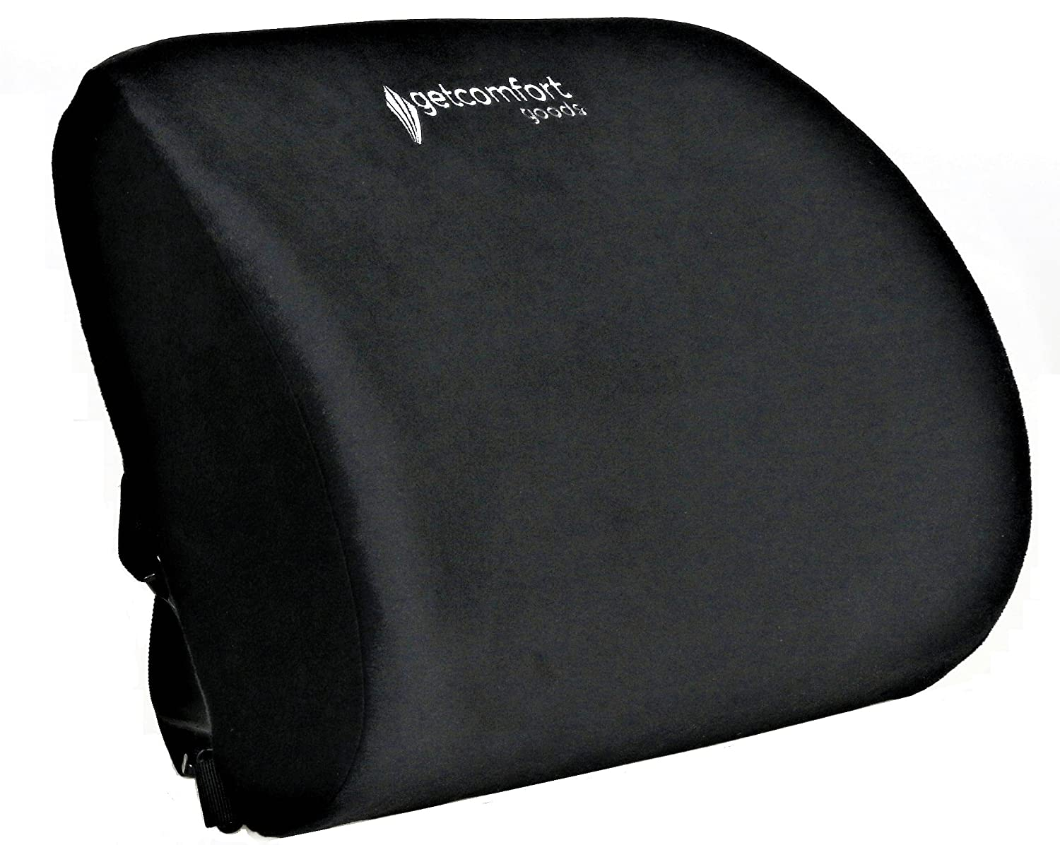 GetComfort Goods Lumbar Support Pillow for Lower Back Support and Pain Relief That Helps Improve Your Posture (Black)