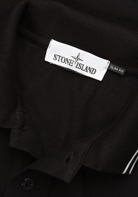Stone Island hombre 22s18 Camisa polo manga corta negro: Amazon.es ...