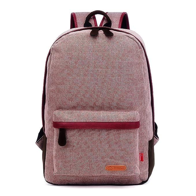 zebella lienzo mochila para ordenador portátil de viaje de gran escuela niños niñas mochila: Amazon.es: Ropa y accesorios