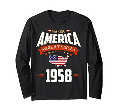 Unisex 1958 Vintage Funny 60th Birthday Gift Shirt For Him Or Her Small Black