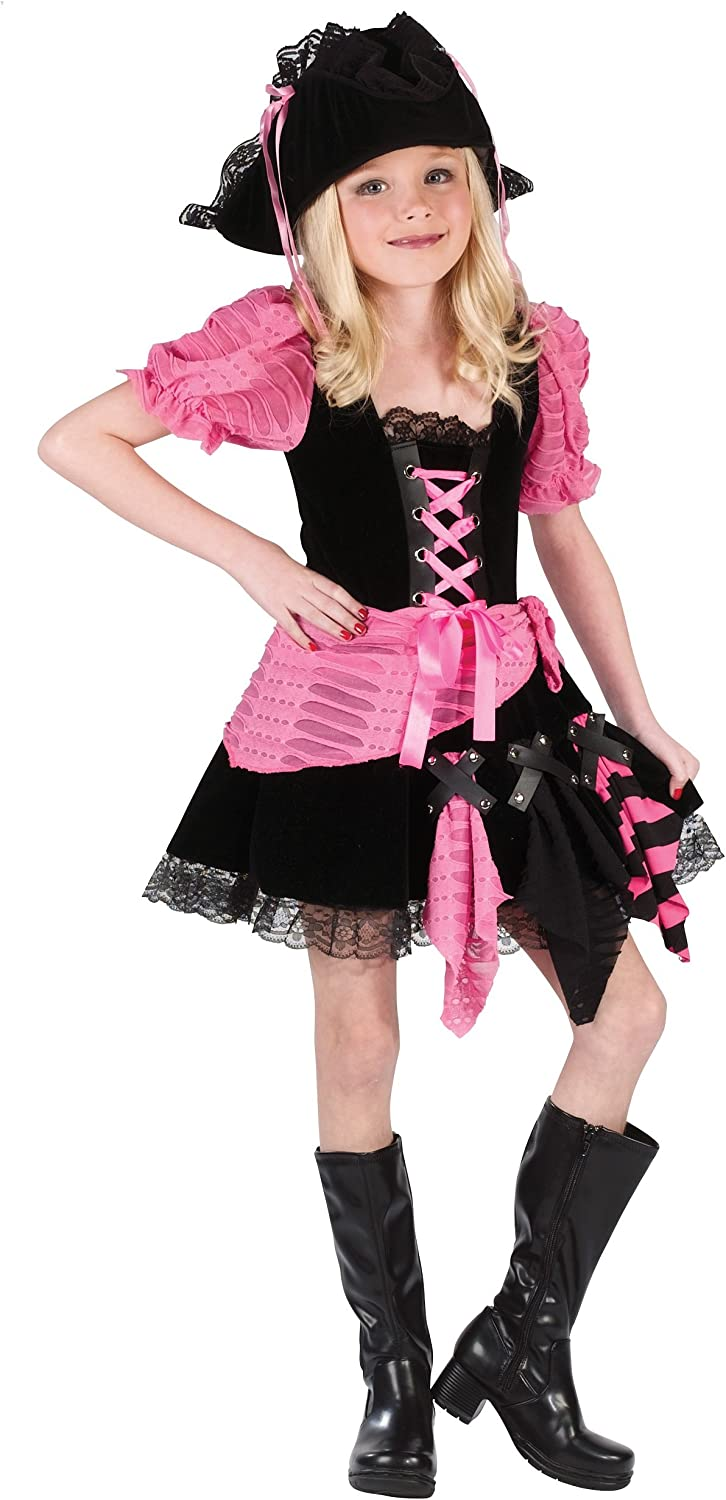 Kid's Pink Pirate Costume Small (4-6)
