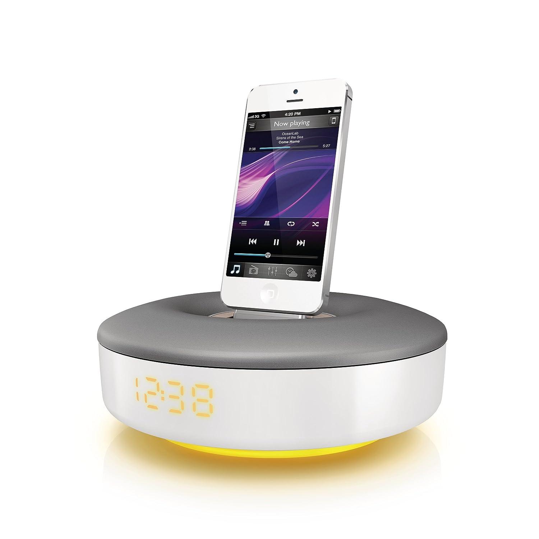 5, 6//6S Bianco Philips DS1155//12 Sistema Docking con Altoparlanti per iPod//iPhone