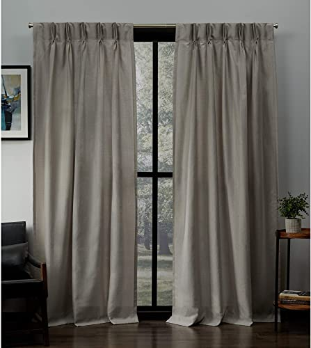 Exclusive Home Curtains Loha Linen Pinch Pleat Curtain Panel Pair