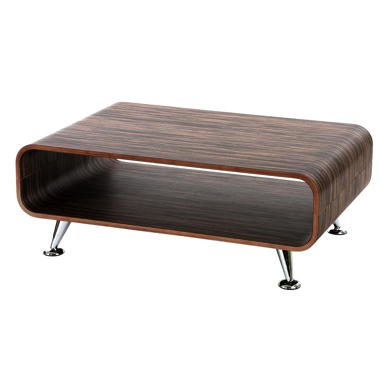 Mendler Couchtisch HWC-B97 XXL, Tisch Loungetisch Club Tisch, 33x90x60 cm ~ Zebra Dunkelbraun