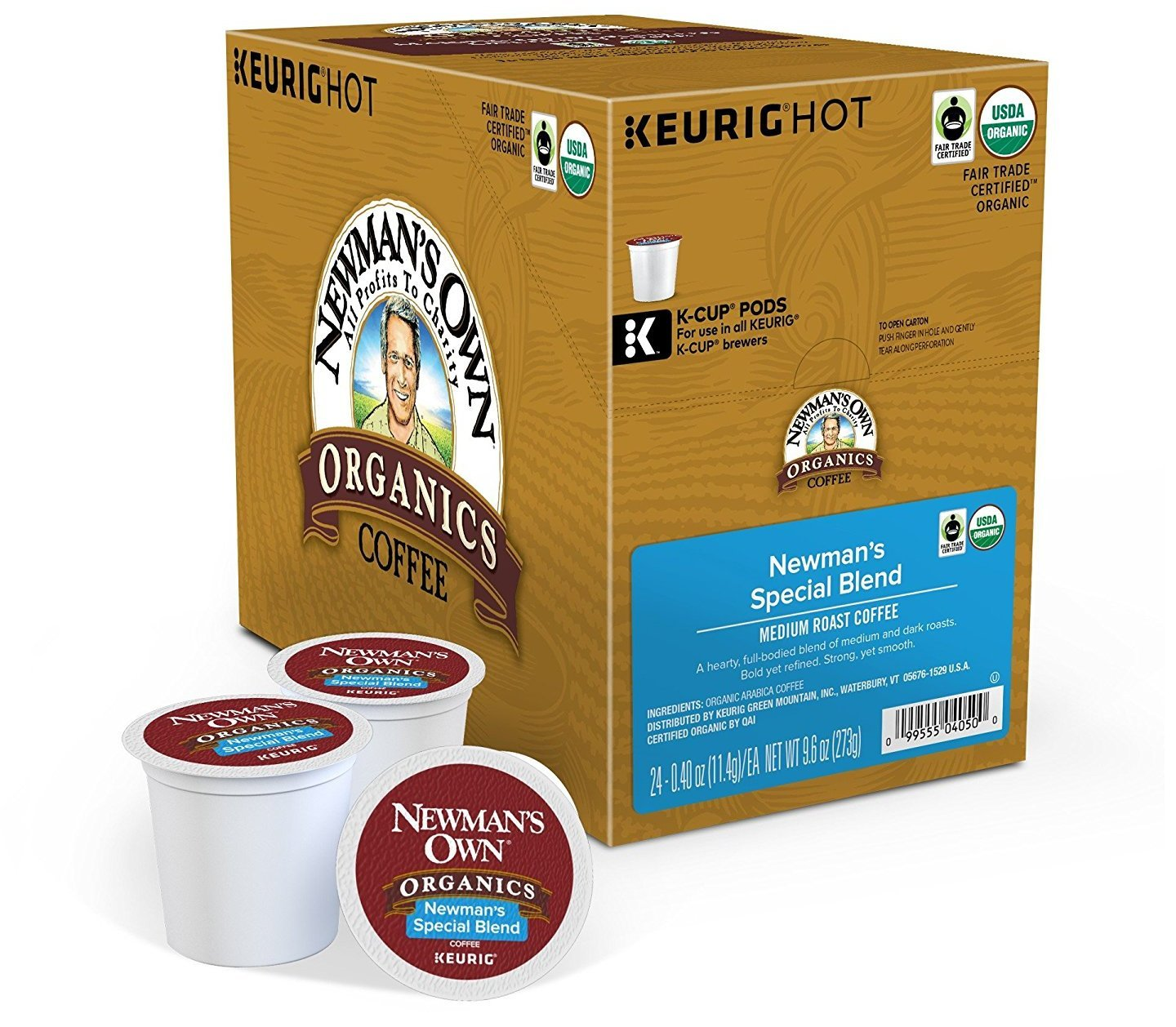 Newman's Own Organics Special Blend Extra Bold Coffee for Keurig K-Cup brewers, 24 count (2 Pack)