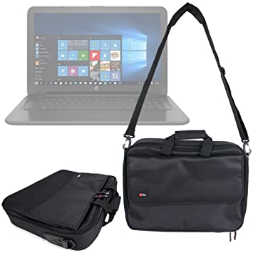 DURAGADGET Maletín Negro para Portátil HP 250 G4 / ProBook 455 G3 / Spectre 13 /