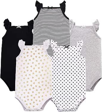 Hudson Baby Baby-Girls Sleeveless Bodysuits Sleeveless T-Shirt Set