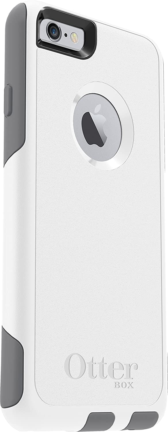 OtterBox COMMUTER SERIES iPhone 6/6s Case - Retail Packaging - GLACIER (WHITE/GUNMETAL GREY)