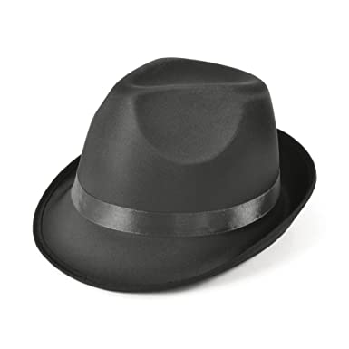 Madness Hat Black Fedora Hat Accessory for 50s 60s Fancy Dress Hat   Amazon.co.uk  Clothing aaf567f8196