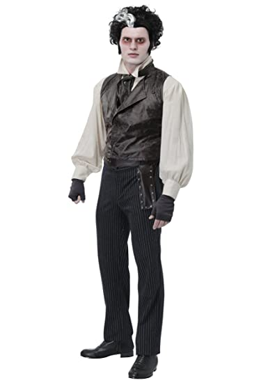 8cb7f3f0448f Sweeney Todd Mens Fancy Dress Costume Black: Amazon.co.uk: Clothing