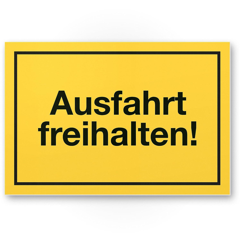 Cartel de plástico amarillo, 30 x 20 cm, con texto
