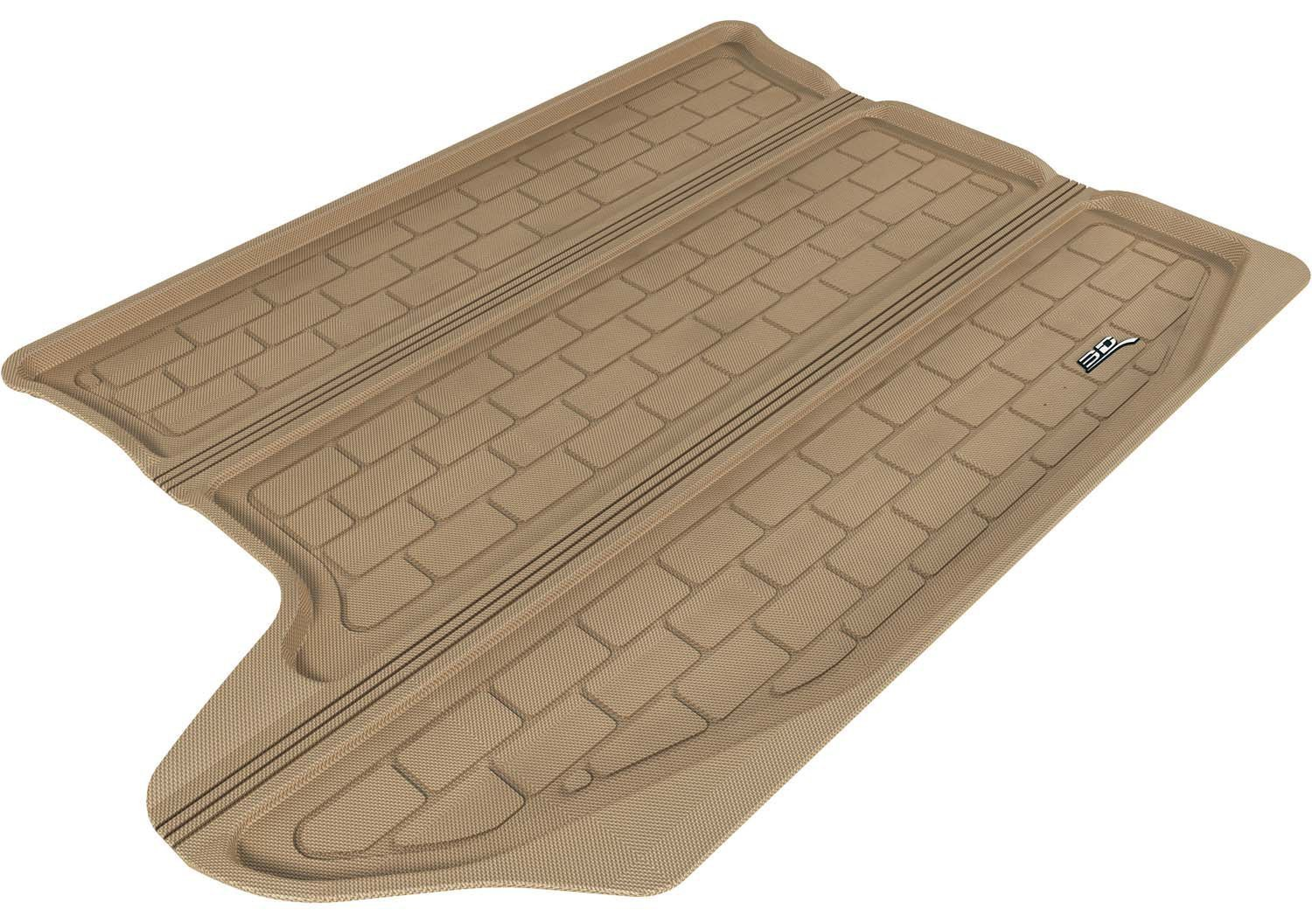 Tan 3D MAXpider Front Row Custom Fit All-Weather Floor Mat for Select Jeep Compass Models Kagu Rubber