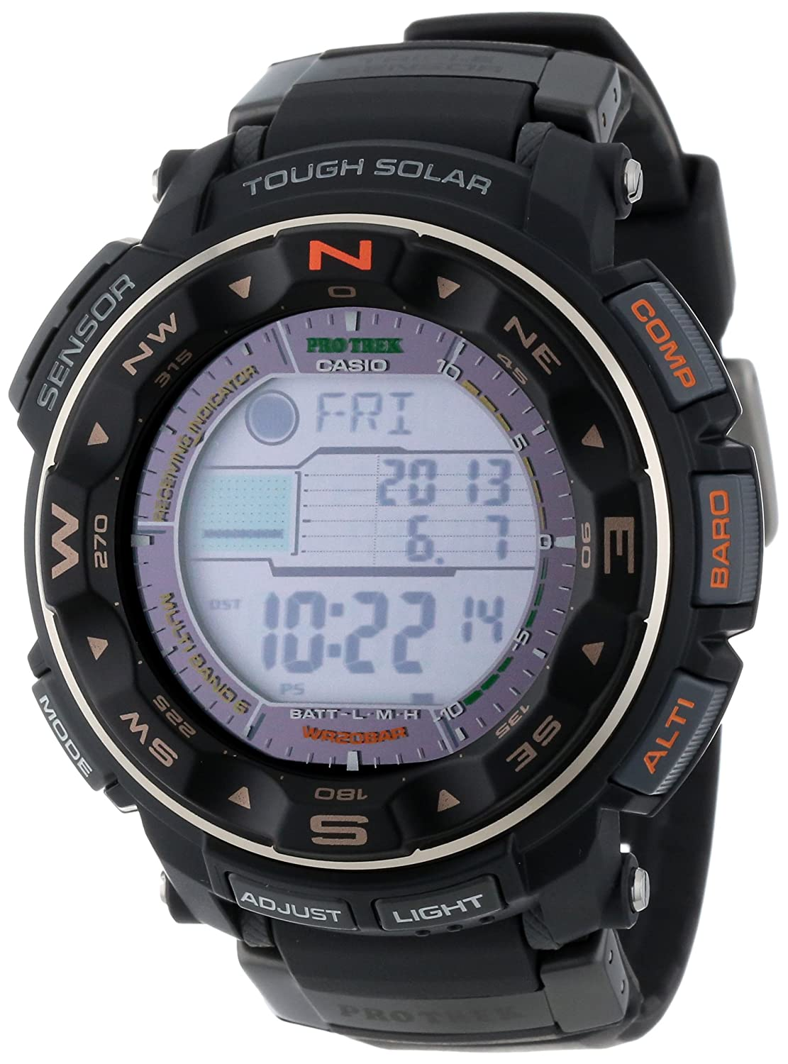 Casio PRW 2500R 1CR Tough Solar Digital Image 1