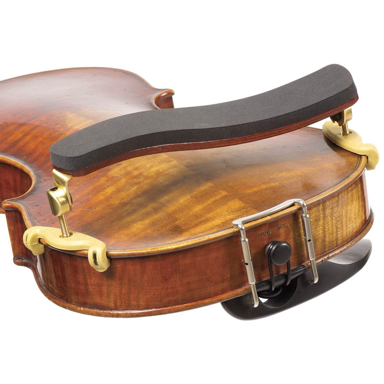 Kun Bravo 4/4 Violin Shoulder Rest - Hardwood with Brass Fittings BHBU0503A576