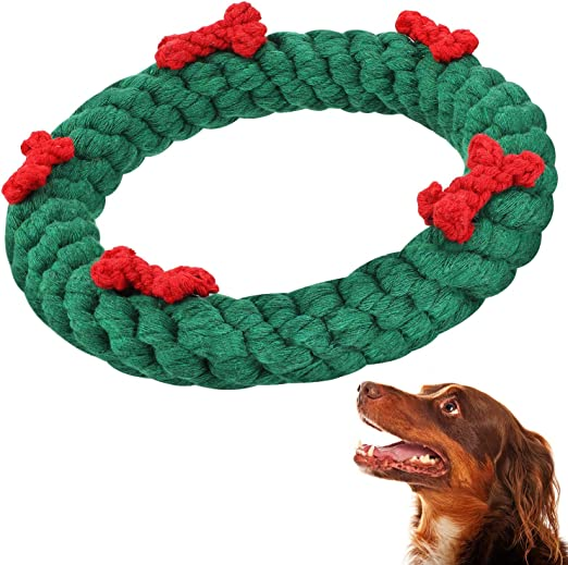 Pet Supplies Gejoy Christmas Dog Chew Toys Pet Chewing Toys Puppy Teething Toys Cotton Chewing Ropes For Dog Puppy Supplies Amazon Com