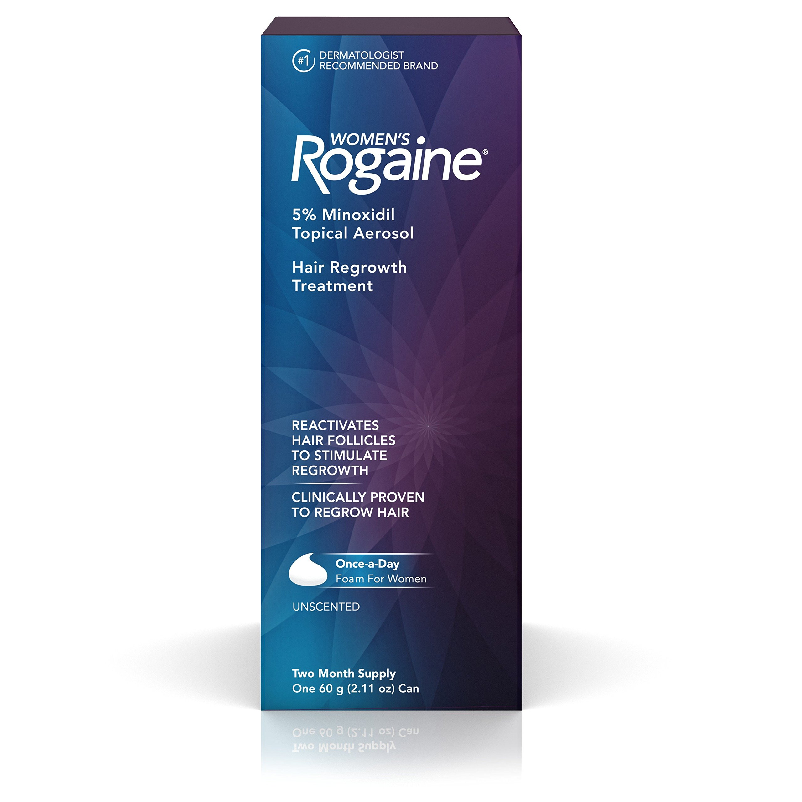 Women's Rogaine Hair Loss and Thinning Treatment, Once-A-Day Minoxidil Foam, Two Month Supply