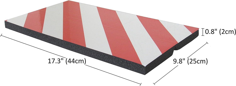 dimensions 44x25x2cm noir//jaune fabriqu/é /à partir de caoutchouc mousse pour prot/éger les v/éhicules dans les garages et entrep/ôts 4 pi/èces FCP4425BYx4 Adh/ésives protecteurs dangle