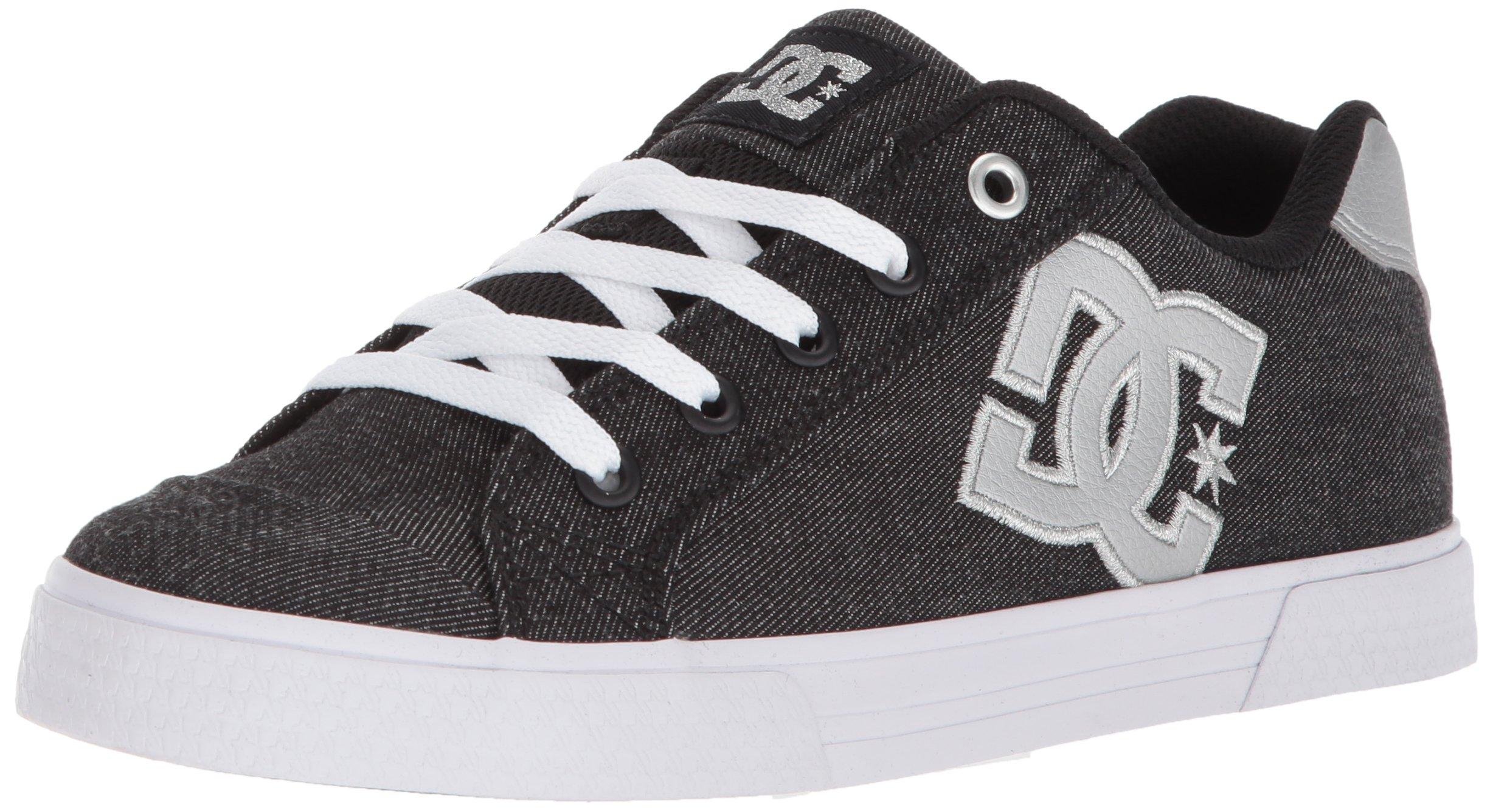 DC Women's Chelsea TX SE Skate Shoe, Black/Anthracite, 7 B US