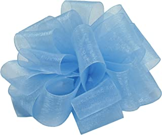 "product image for Offray Berwick LLC 979181 Berwick Simply Sheer Asiana Ribbon -1-1/2"" W X 100 yd - Blue Mist Ribbon"