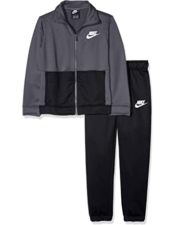new product ecb58 1b329 Nike Kid s B NSW Track Suit Poly Tracksuit, Dark Grey Black White, Small   Amazon.co.uk  Sports   Outdoors
