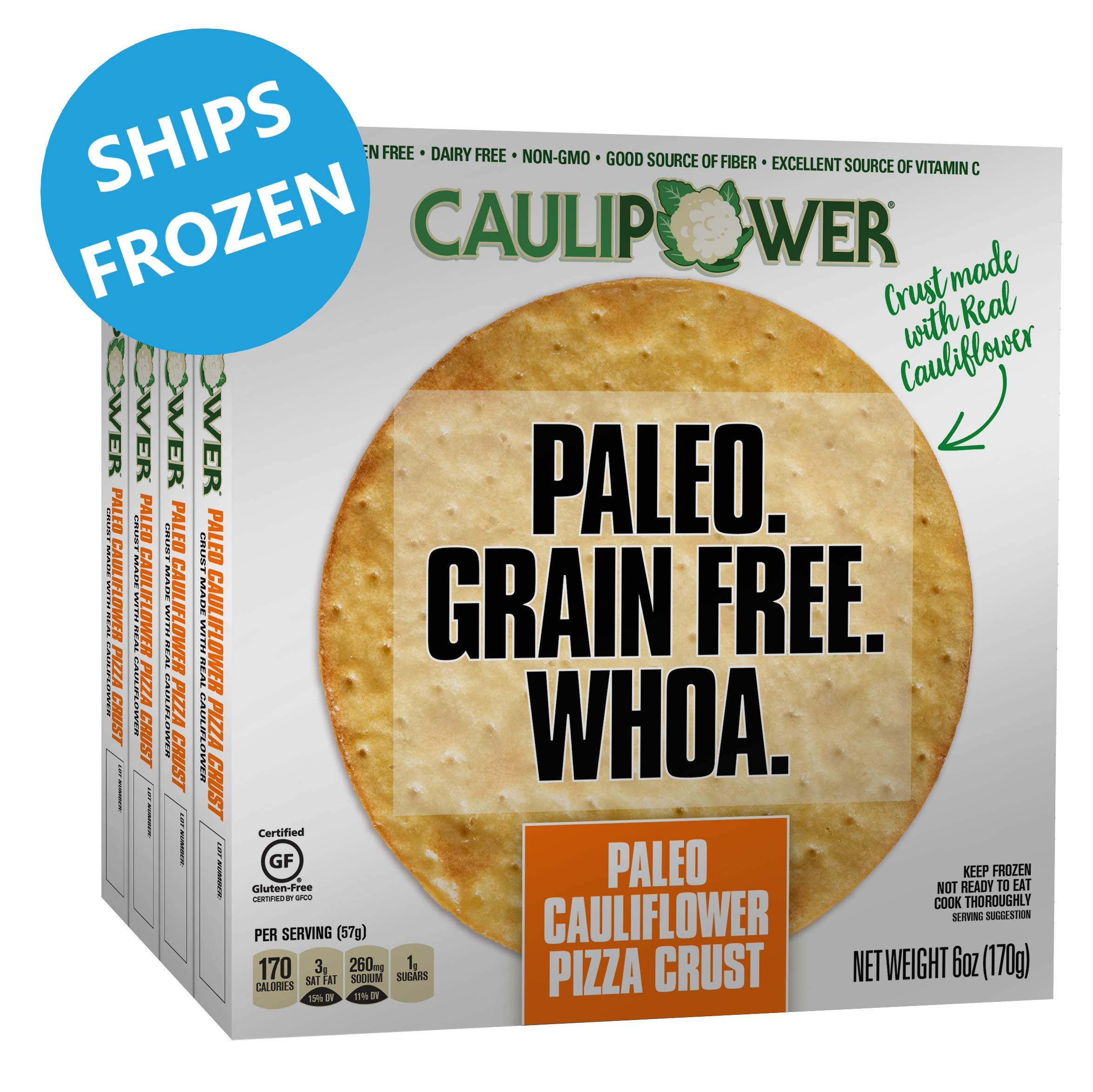 CAULIPOWER Paleo Cauliflower Pizza Crusts, Grain Free, Gluten Free, Non-Gmo, Lower Carb (4 Crusts) by CAULIPOWER