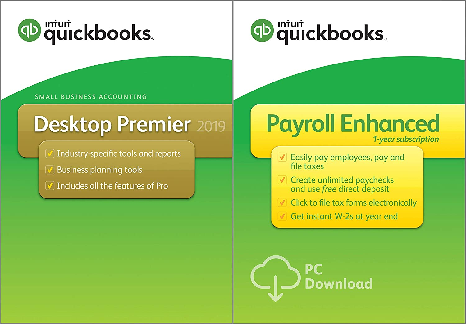 QuickBooks Desktop Premier 2019 [PC Disc] with Enhanced Payroll