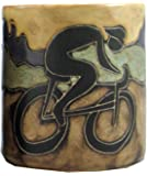 Mara Stoneware Mug - Bicyclist- 16 oz