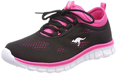 KangaROOS Unisex-Kinder K-Run Neo Sneaker, Schwarz (Jet Black/Daisy Pink), 40 EU