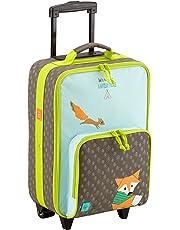 Lässig Valise à Roulettes Little Tree Renard -bagage multifonctionnel pour enfants, grand compartiment intérieur isolé