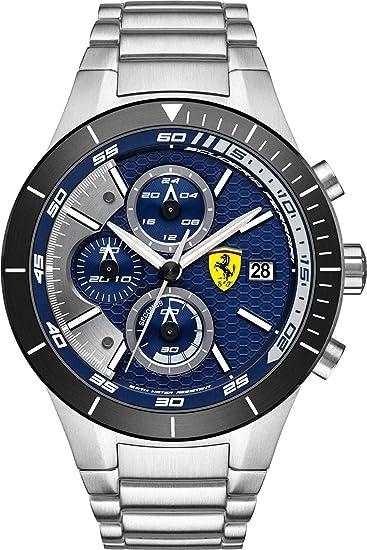 Scuderia Ferrari Orologi hombre-reloj Red Rev EVO analógico de cuarzo de acero inoxidable 0830270: Ferrari: Amazon.es: Relojes